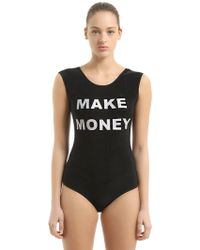 MAKE MONEY NOT FRIENDS - Logo Printed Swimsuit - Lyst