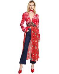 Attico   Beatriz Print Silk Georgette Dress   Lyst