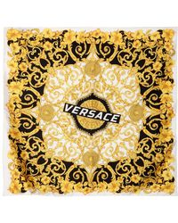 Versace - Foulard En Soie Imprimé Baroque - Lyst
