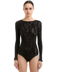 Wolford - Louise Lace String Bodysuit - Lyst