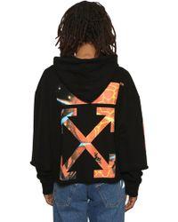 eb5ec7143127 Off-White c o Virgil Abloh - Graphic Print Jersey Sweatshirt Hoodie - Lyst