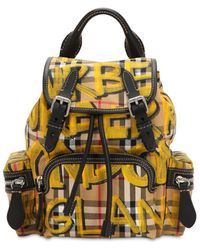 Burberry - Small Rucksack Graffiti Canvas Backpack - Lyst
