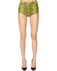 Jeremy Scott - Piton Printed Leather Shorts - Lyst