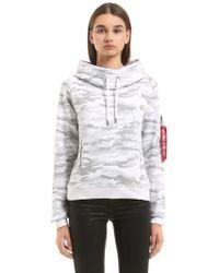 Alpha Industries - Hooded Camouflage Sweatshirt - Lyst