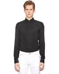 Dolce & Gabbana - Gold Fit Cotton Jacquard Tuxedo Shirt - Lyst