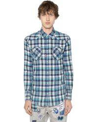 DSquared² - Westernhemd Aus Baumwolle Mit Karos - Lyst