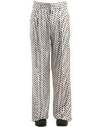 Etro - Wide Leg Silk Pyjama Trousers - Lyst