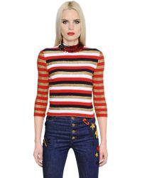 Sonia Rykiel - Sequin & Lurex Striped Knit Sweater - Lyst