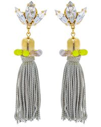 Anton Heunis - Color Block Tassel Earrings - Lyst