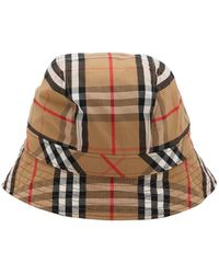 Burberry Graffiti Vintage Check Cap in Red - Lyst 32456465c767