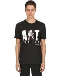 Neil Barrett - Artoholic Printed Jersey T-shirt - Lyst