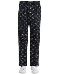 KENZO - May Flower Poplin Pajama Pants - Lyst