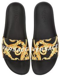 """Versace - """"Sandales """"""""st.heritage"""""""" En Cuir Imprimé"""" - Lyst"""