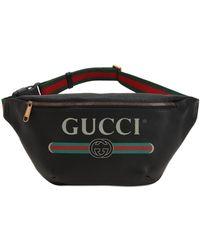 Gucci - Gürteltasche Aus Leder Mit Vintage-logo - Lyst