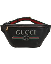 Gucci - Sac Ceinture En Cuir Avec Logo Vintage - Lyst