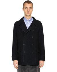 Giorgio Armani - Double Breasted Wool Coat - Lyst