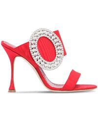 "Manolo Blahnik - ""Zapatos Mules """"fibiona"""" Con Cristales 105mm"" - Lyst"