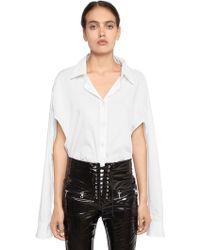 Unravel - Deconstructed Cutout Cotton Bodysuit - Lyst