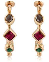 DORETTE - Simple Earrings, 18kt Gold - Lyst