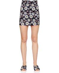 Au Jour Le Jour - Daisy Printed Techno Duchesse Mini Skirt - Lyst