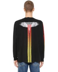 Marcelo Burlon - T-shirt Aus Jersey Mit Druck - Lyst