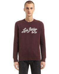 Levi's - Levi's Stiched Logo Cotton Sweatshirt - Lyst