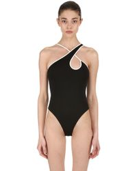 David Koma - Asymmetrical Stretch Jackytex Bodysuit - Lyst