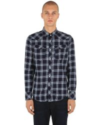 f0b64c047e G-Star RAW - 3301 Cotton Flannel Shirt - Lyst
