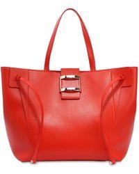 Roger Vivier - Large Viv' Leather Tote Bag - Lyst