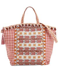 Dodo Bar Or - Cotton Jacuqard & Lace Tote Bag - Lyst