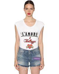 Dolce & Gabbana - L'amore È Bellezza Cotton Jersey T-shirt - Lyst