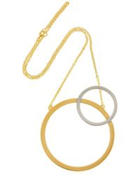 Vita Fede - Sole Two Toned Necklace - Lyst