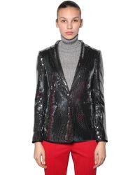 Marco De Vincenzo - Sequined Blazer Jacket - Lyst
