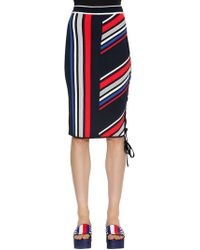 Tommy Hilfiger - Gigi Hadid Striped Intarsia Knit Skirt - Lyst