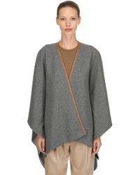 Agnona - Cashmere Cape W/ Leather Trim - Lyst