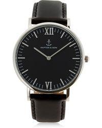 KAPTEN & SON - 40mm Leather Watch - Lyst