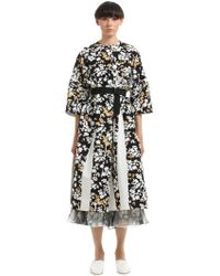 Jil Sander - Floral Printed Cotton Canvas Coat - Lyst