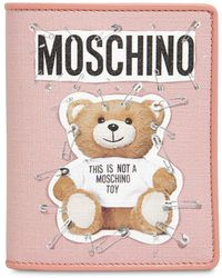 Moschino - Teddy Bear Printed Snap Wallet - Lyst