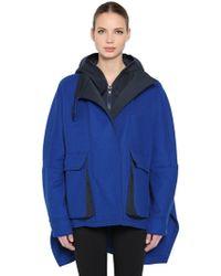 Sportmax - Hooded Wool Blend Jacket - Lyst