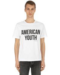 Calvin Klein - American Youth Cotton Jersey T-shirt - Lyst