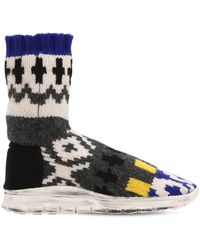 Maison Margiela - Sock Jacquard Knit High Top Sneakers - Lyst