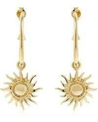 Schield - Hoop Earrings W/ Sun Charms - Lyst