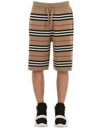 Burberry - Shorts Aus Merinowollstrick - Lyst