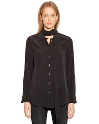 Equipment - Essential Shirt With Scarf Collar - Lyst