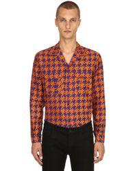 Etro - Houndstooth Cotton Jacquard Pyjama Shirt - Lyst