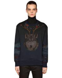 Etro - Wolf & Bear Printed Cotton Sweatshirt - Lyst
