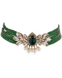 Shourouk | Cascade Beaded Crystal Choker | Lyst