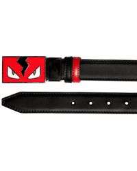 Fendi - Monster Reversible Leather Belt - Lyst