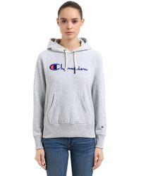 Champion - Sudadera De Algodón De Rizo Con Capucha Y Logo - Lyst