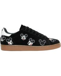 MOA - Mickey Mouse Embroidered Suede Sneakers - Lyst
